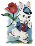 Retro Peter Cottontail Clip Art