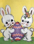 Retro Easter Bunnies Card