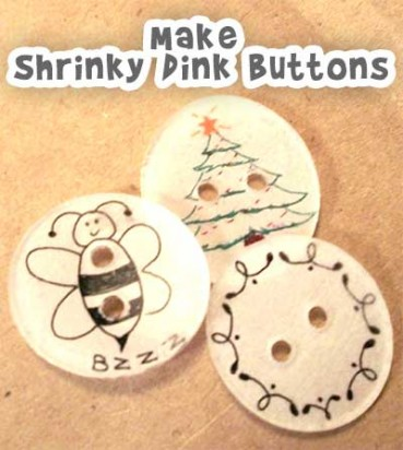 DIY Shrinky Dink Buttons