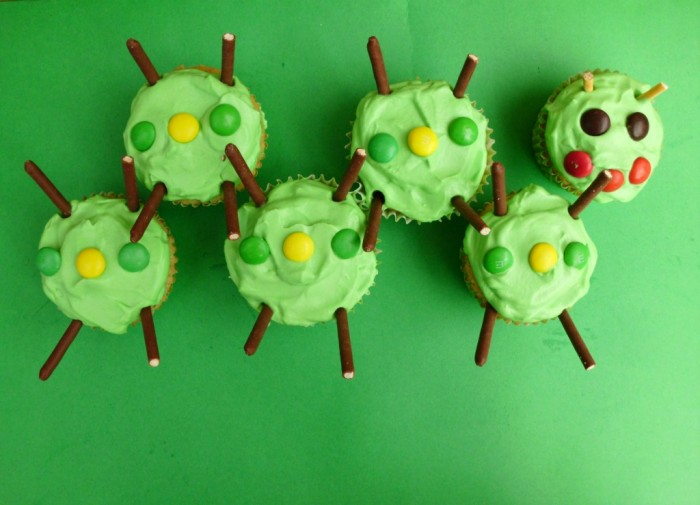 How to Make Caterpillar Cupcakes
