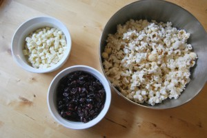 Easy White Chocolate Popcorn Ingredients