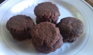 Bake your Nutella cookies for about 8 minutes.  They come out looking a lot like ginger snaps but are softer.