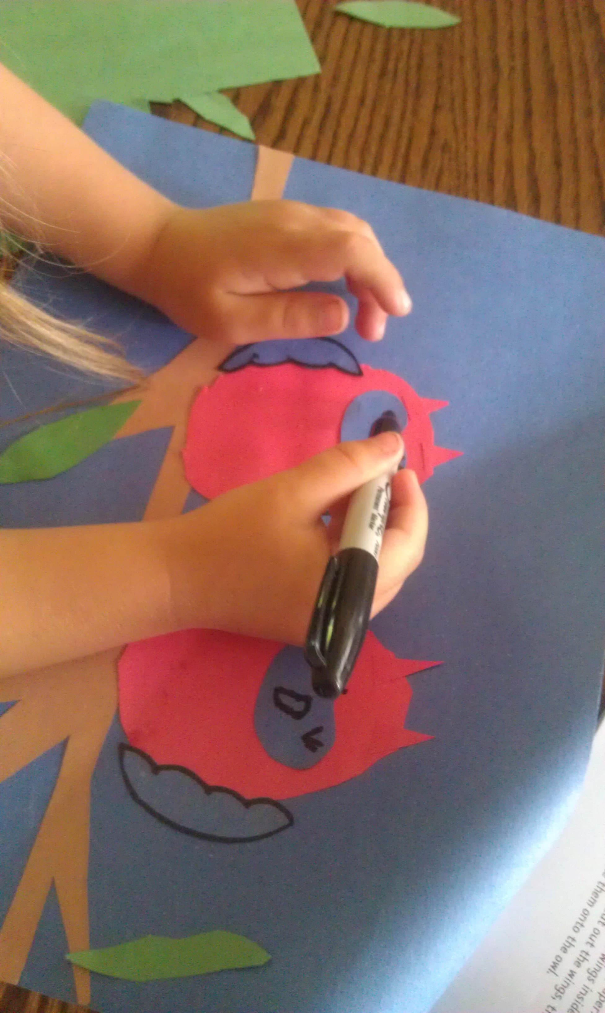 Drawing paper craft owl faces woo jr kids activities jeuxipadfo Image collections