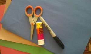 Totally simple craft supplies for your owl cut out.