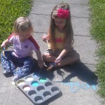 Make Environmentally Friendly Sidewalk Chalk Paint