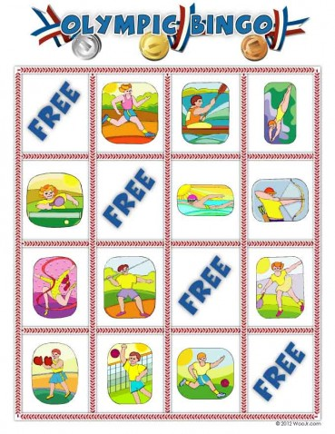 Printable Summer Olympics Bingo Game