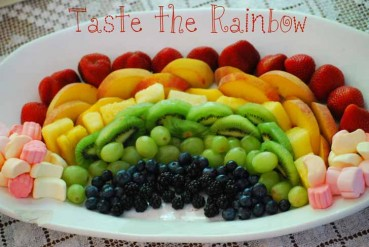 How to Make a Beautiful Rainbow in the Clouds Fruit Platter