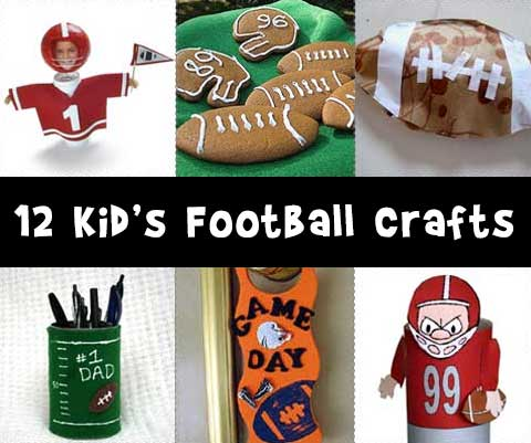 12 Kid's Football Craft Ideas