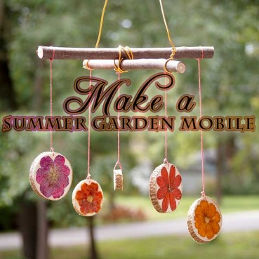 Make a Spinning Flower Garden Mobile