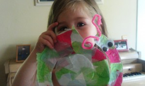 A nice, simple kids craft from basic craft supplies you probably already have.
