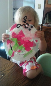 "Little Sister made a snail, too. (Guess we'd better start calling her ""Middle Sister!"")"