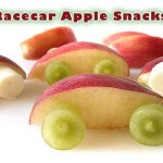 Crafting with Food:  Racecar Snacks from Apple Slices