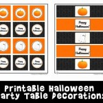 Fun and Free Halloween Party Table Printable Decorations