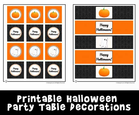 Printable Halloween Party Table Decorations