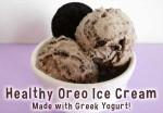 "Healthy Oreo ""cookies and cream"" low sugar recipe made with yogurt"