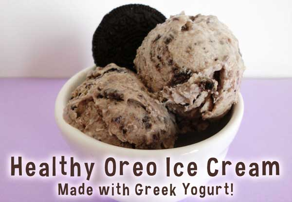 "Healthy Oreo ""cookies and cream"" low sugar recipe made with yogurt"