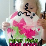 Paper Plate Snail Craft for Kids
