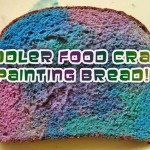 Toddler Craft Project: Painting Bread for Snack Time