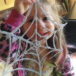 Glitter and Glue Spiderweb Kids Craft for Halloween
