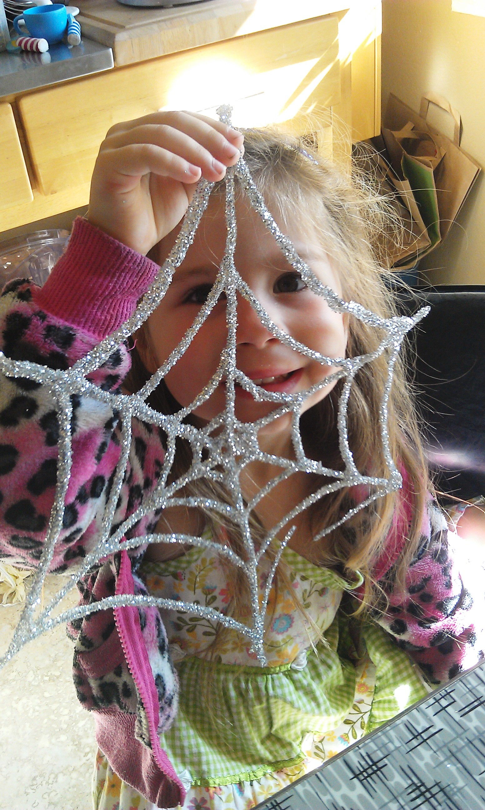 Glitter and Glue Spiderweb Kids