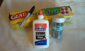 Halloween Spider Web Craft Supplies 300x179 Glitter and Glue Spiderweb Kids Craft for Halloween