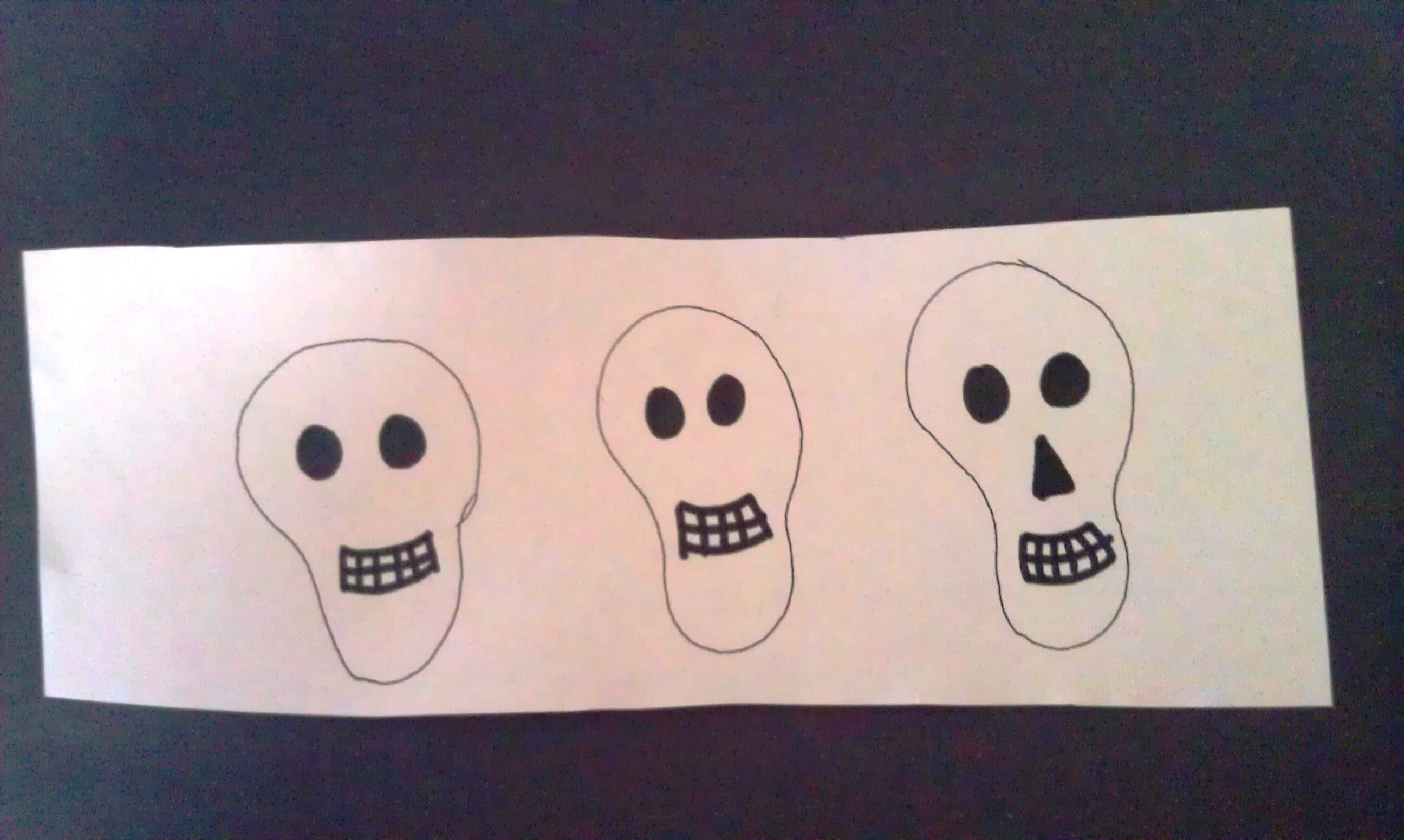 Q-Tip Skeleton Craft Skulls | Woo! Jr. Kids Activities