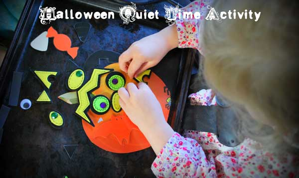 Easy Halloween Activity for Toddlers - a Magnetic Shapes Kit to Make