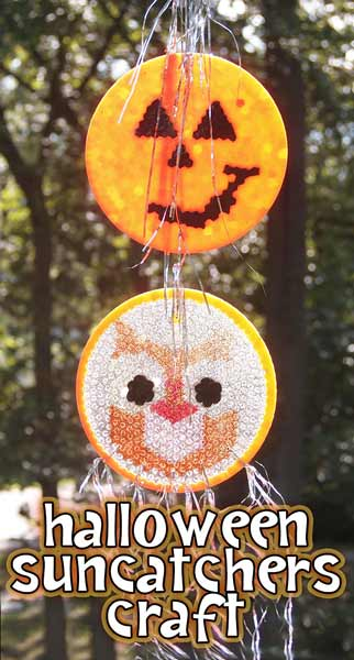 Make pretty Halloween suncatchers by melting pony beads into baking pans!
