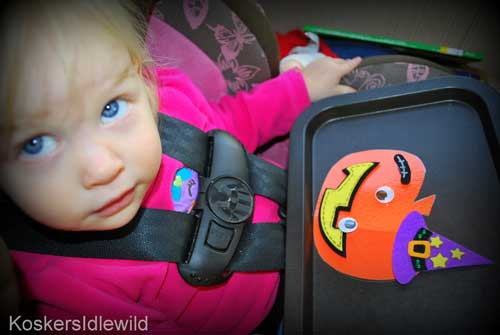 Keeping Toddlers Happy and Quiet with a Magnetic Halloween Activity