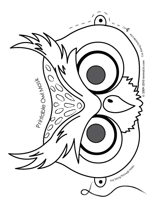 cheetah face mask template - owl mask coloring page woo jr kids activities