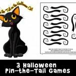 "Printable ""Pin the Tail"" Halloween Games"