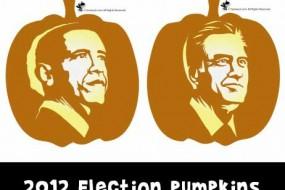2012 Election Pumpkin Carving: President Obama and Governor Romney