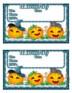 Fun Jack o' Lantern Printable Halloween Party Invitations