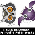 Cute Printable Halloween Animal Paper Masks