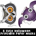 Cute Printable Halloween Animal Paper Masks