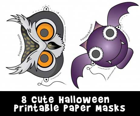 picture relating to Printable Holloween Pictures titled Lovable Printable Halloween Animal Paper Masks Woo! Jr. Little ones