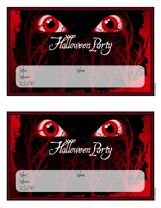 scary monster eyes halloween party invitations to print woo jr
