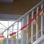 Halloween Craft: Candy Corn Pennant Garland