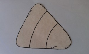 Print or draw your candy corn template onto thick paper.