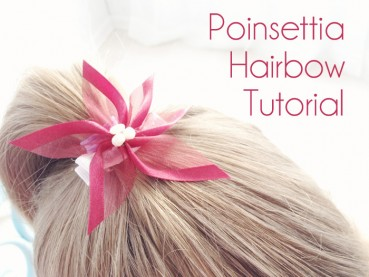 Poinsettia Hair Bow Tutorial