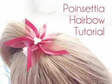Poinsettia Hair Bow Tutorial