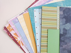 Use pretty scrapbook papers