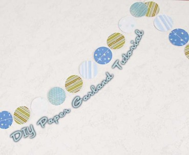 Paper Circle Garland Tutorial