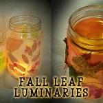 Autumn Leaf Luminaria Craft