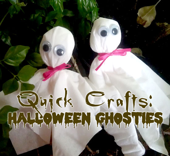 Quick and Fast Halloween Crafts: Tissue Ghosts