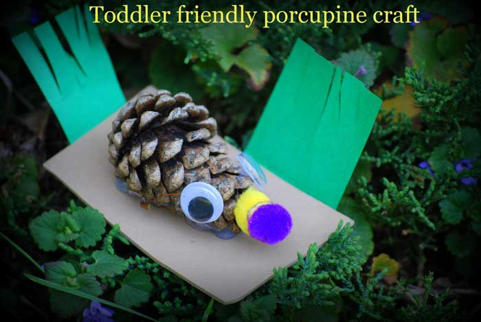 Cute Pinecone Porcupine Kids Craft