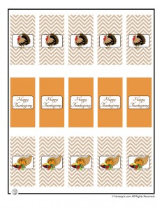 Thanksgiving mini candy bar wrappers to print