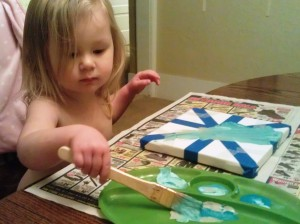It's so easy that it even makes a good toddler craft!