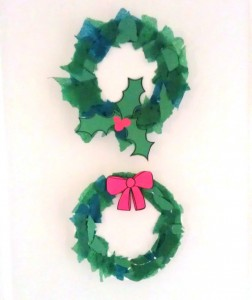 Glue on your embellishments and hang up your paper plate wreath.