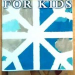 Pretty Snowflake Canvas Art Project for Kids